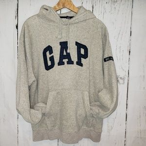 Gap heather grey fleece Sweatshirt Medium